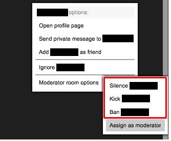 Moderator Options