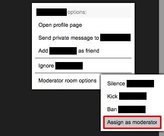 Assign a Moderator